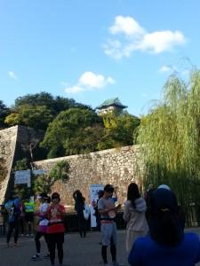 快晴の大阪城
